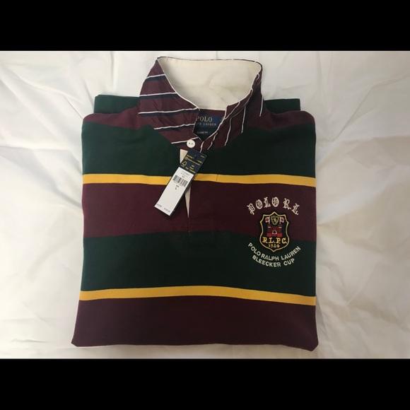 943ac784a Polo Ralph Lauren Striped Bleecker Cup Rugby Polo